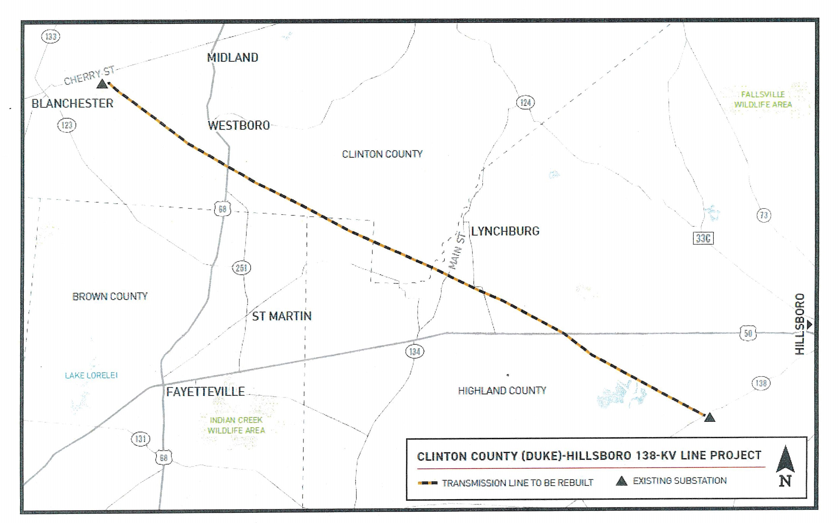 Map of area proposed